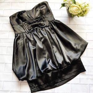 NWT Forever 21 Strapless Satin Bubble Mini Dress